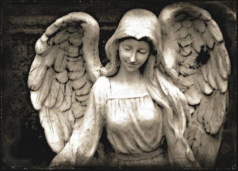 Laura Carter - Angel Photograph Fine Art Print Black and White