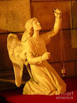 John Malone - Angel Statue with Incense