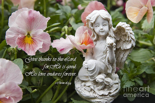 Jill Lang - Angel Statue with Scripture