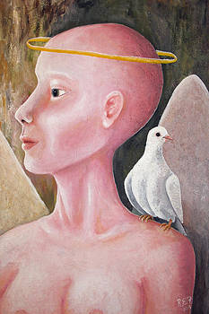 Angel with Dove by Ruben  Flanagan
