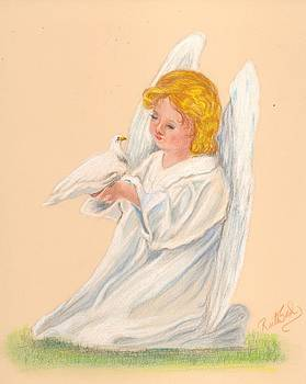 Angel with Dove by Ruth Seal