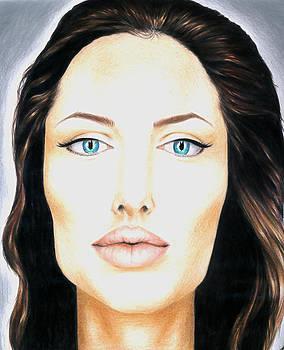Angelina Jolie Drawing by Keidi Sel