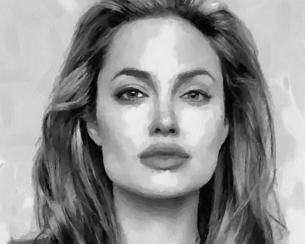 Angelina Jolie black and white by Georgi Dimitrov