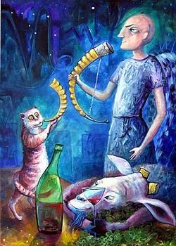 Elisheva Nesis - ANGELS OF ZODIAC CAPRICORN THE SEA GOAT GOAT HORNED