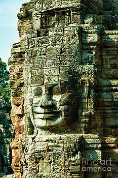 Fototrav Print - Angkor Bayon stone carving cambodia