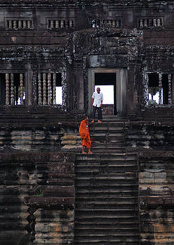 Angkor monk by Eric Keesen