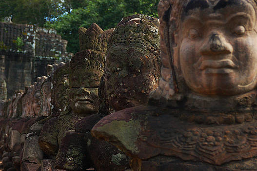 Angkor statues by Eric Keesen