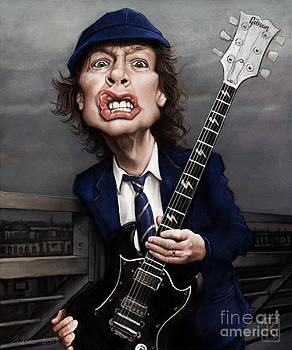 Angus Young by Andre Koekemoer