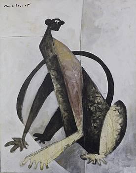 Mark M  Mellon - ANIMALIA Sitting Monkey