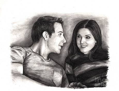 Anna Kendrick and Skylar Astin by Rosalinda Markle