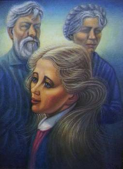 Nina with Grandparents by Raffi Jacobian