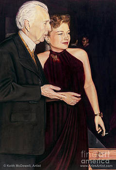 Anne Baxter and Frank Lloyd Wright  @ AriesArtist.com by AriesArtist Com