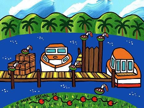 Annie's Dock - Cedar Key by Mike Segal