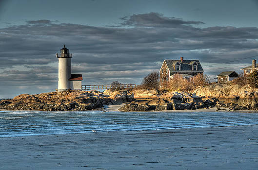 Annisquam Lighthouse From The Beach by Liz Mackney