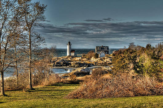 Annisquam Lighthouse Late Autumn by Liz Mackney