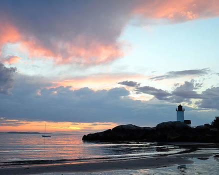 Annisquam Lighthouse Sunset by Dave Saltonstall