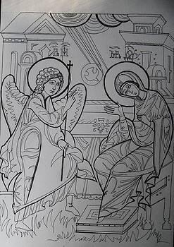 Annunciation by Valeriya Temnenko