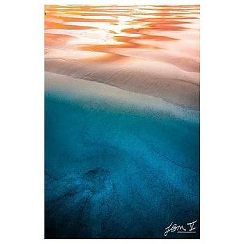 Another Abstract Sunset From The Surf by Jb Manning