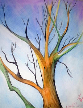 Another tree watercolor by Loretta Nash