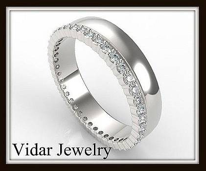 ant 14k White Gold Diamond Women Wedding Ring by Roi Avidar