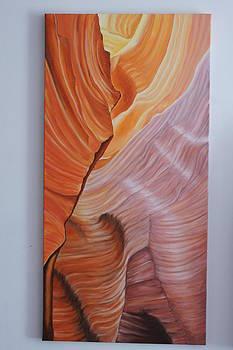 Antelope Canyon 3 by Paul Santander
