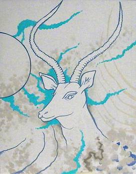 Antelope invert by Heather Pecoraro
