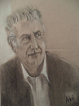 Anthony Bourdain by Arlen Avernian Thorensen