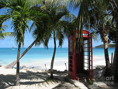 Antigua - Phone booth by HEVi FineArt