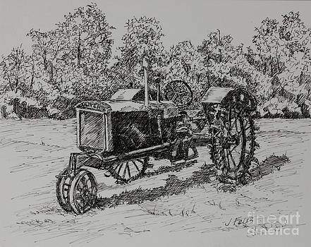 Antigue Tractor by Janet Felts