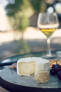 Antipasto Cheese And Wine by Gillian Vann