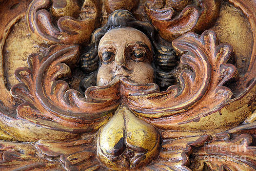 Antique Angel Carving Bernal Mexico by Linda Queally