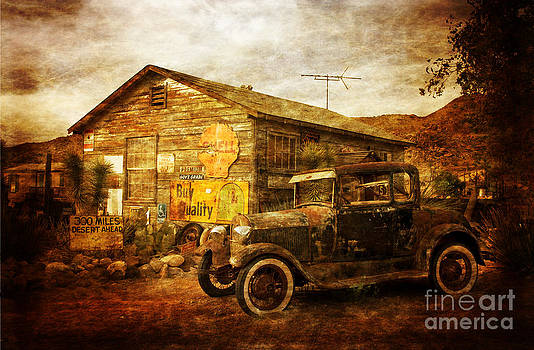 Antique Car  Hackberry Route 66  by Heinz G Mielke