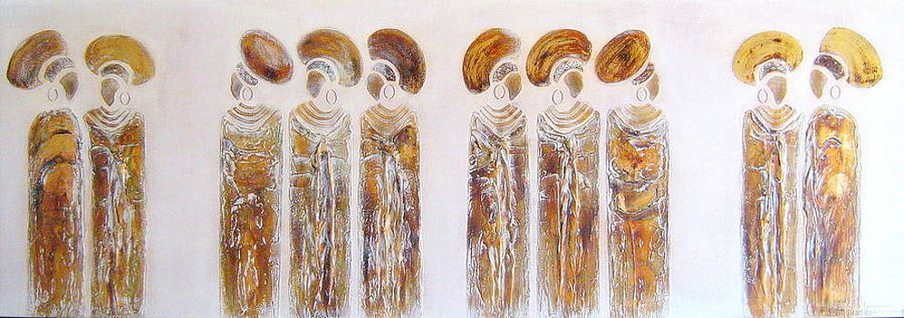 Antique Copper Zulu Ladies - Original Artwork by Tracey Armstrong