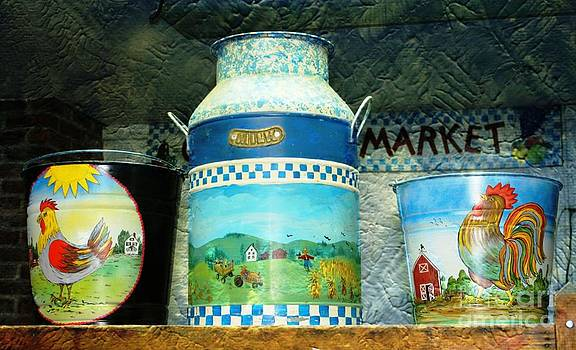 Antique Dairy Milk Can And Pails by Judy Palkimas