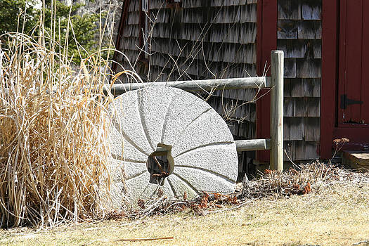 Antique Granite Mill Stone  by Denyse Duhaime