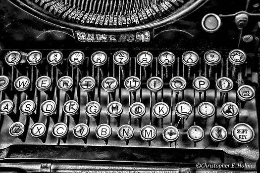 Christopher Holmes - Antique Keyboard - BW