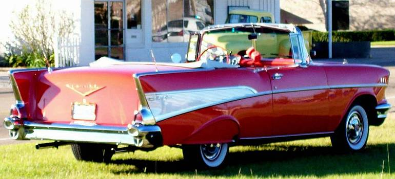 Antique Red Convertable by De Beall