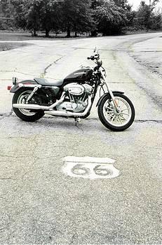Antique Route 66 Shield by Trevor Hilton
