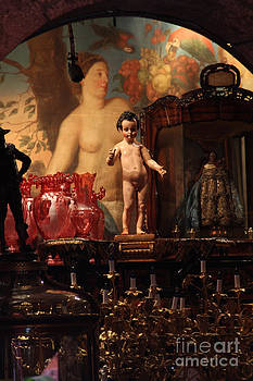 Antique Shop Mother and Child Mexico City by Linda Queally