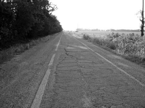 Antique Sidewalk Highway by Trevor Hilton
