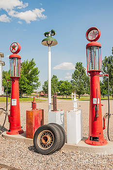 Antique Texaco Pumps by Sue Smith