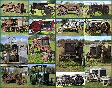 Linda Rae Cuthbertson - Antique Tractors Collage in Color