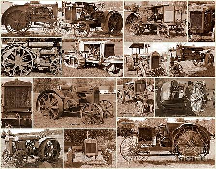 Linda Rae Cuthbertson - Antique Tractors Collage