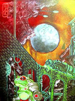 Anuramech at the Feculent Space Port by Jacob Wayne Bryner