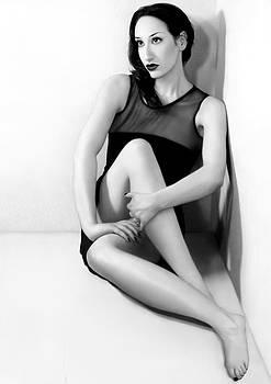 Anxiety 1 - Frozen - Self Portrait by Jaeda DeWalt