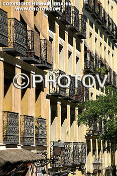 Apartment Buildings in Old Town - Madrid - Spain by Hisham Ibrahim