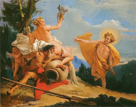 Giambattista Tiepolo - Apollo Pursuing Daphne