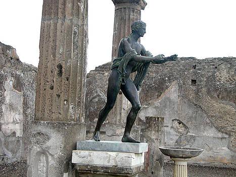 Apollo Statue in Pompeii by Leslie Brashear