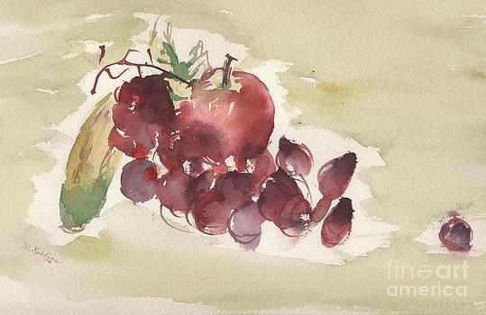 Apple and a Banana and Grapes by Marlene Robbins