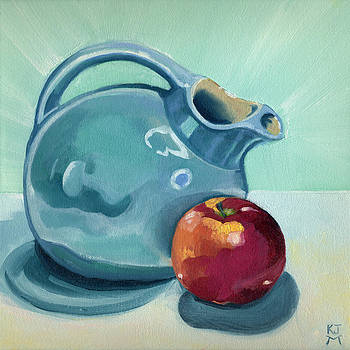 Apple and Ball Pitcher by Katherine Miller
